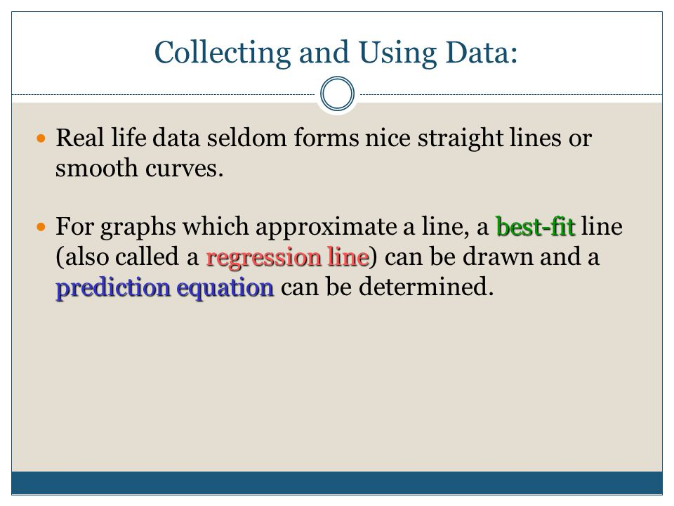 Standard 1.3: analyze graphs and make predictions based on linear functions (1-6) In this section we will… Draw and analyze scatter plots. Draw a best