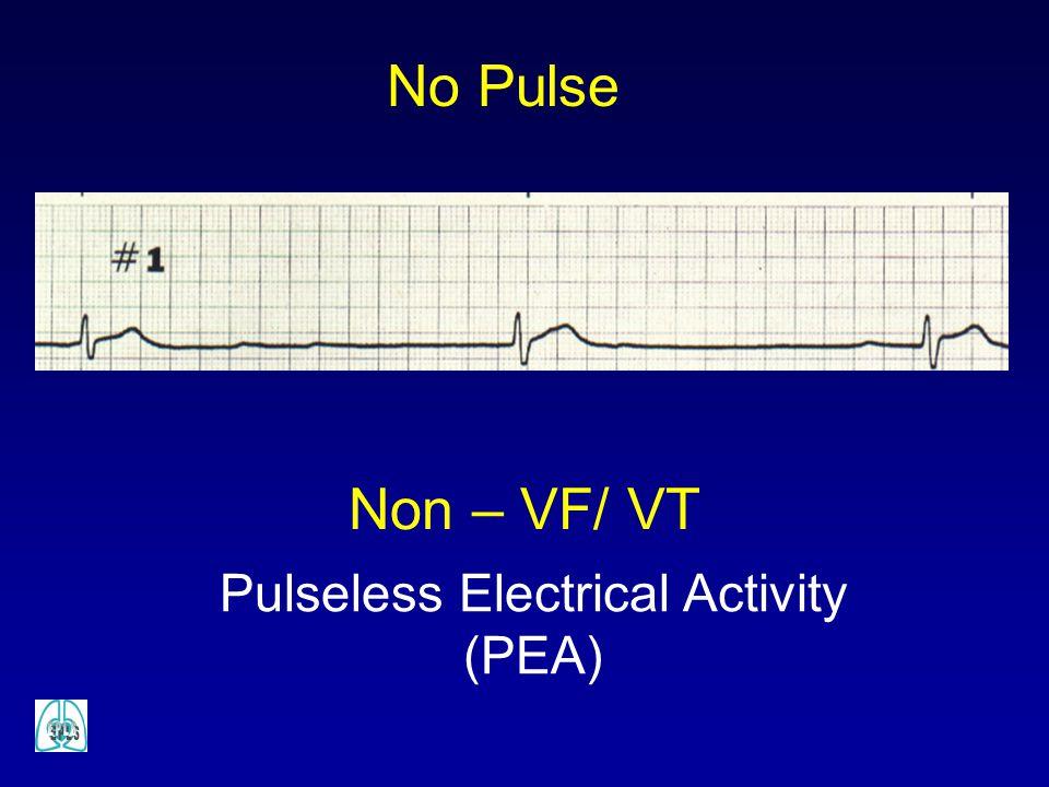 Pulseless Electrical Activity (PEA) Non – VF/ VT No Pulse