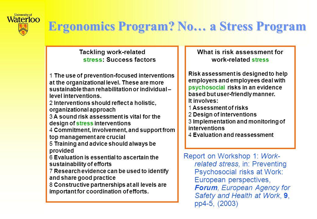 Ergonomics Program.