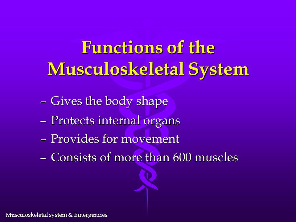 Musculoskeletal system & Emergencies Musculoskeletal System & Emergencies