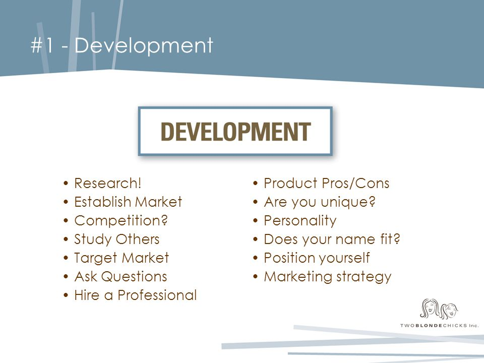 #1 - Development Research. Establish Market Competition.