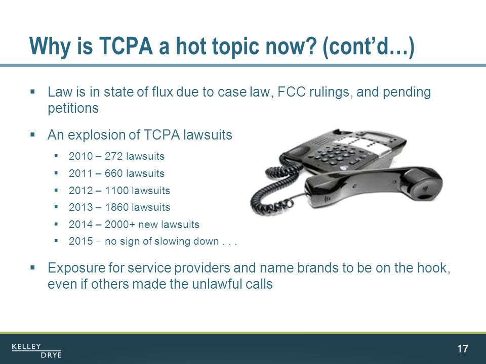 Why is TCPA a hot topic now.