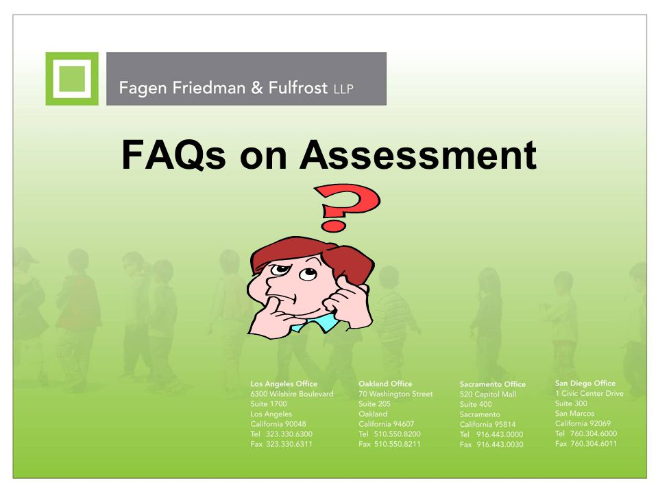 FAQs on Assessment