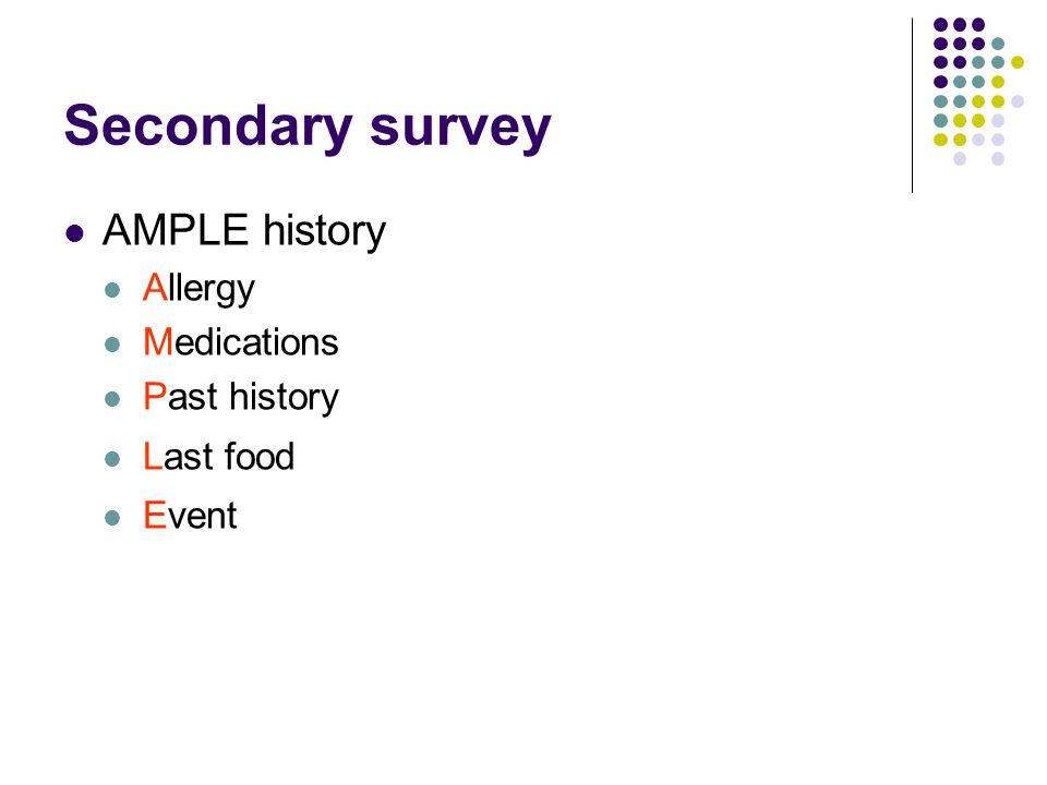 Primary survey Monitoring ECG, BP, SaO 2, GCS +/- ventilator obs Analgesia Radiology CXR, Cx spine, AP pelvis IDC traditionally part of 1° survey but usually done later