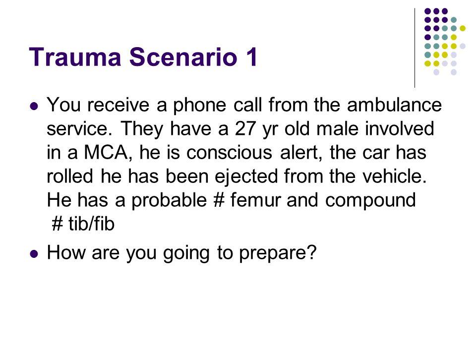 Major Trauma Scenarios Ballarat Health Services Emergency Medicine Training Hub