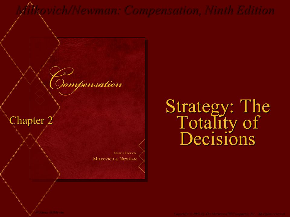 Milkovich/Newman: Compensation, Ninth Edition McGraw-Hill/Irwin Copyright © 2008 by The McGraw-Hill Companies, Inc.