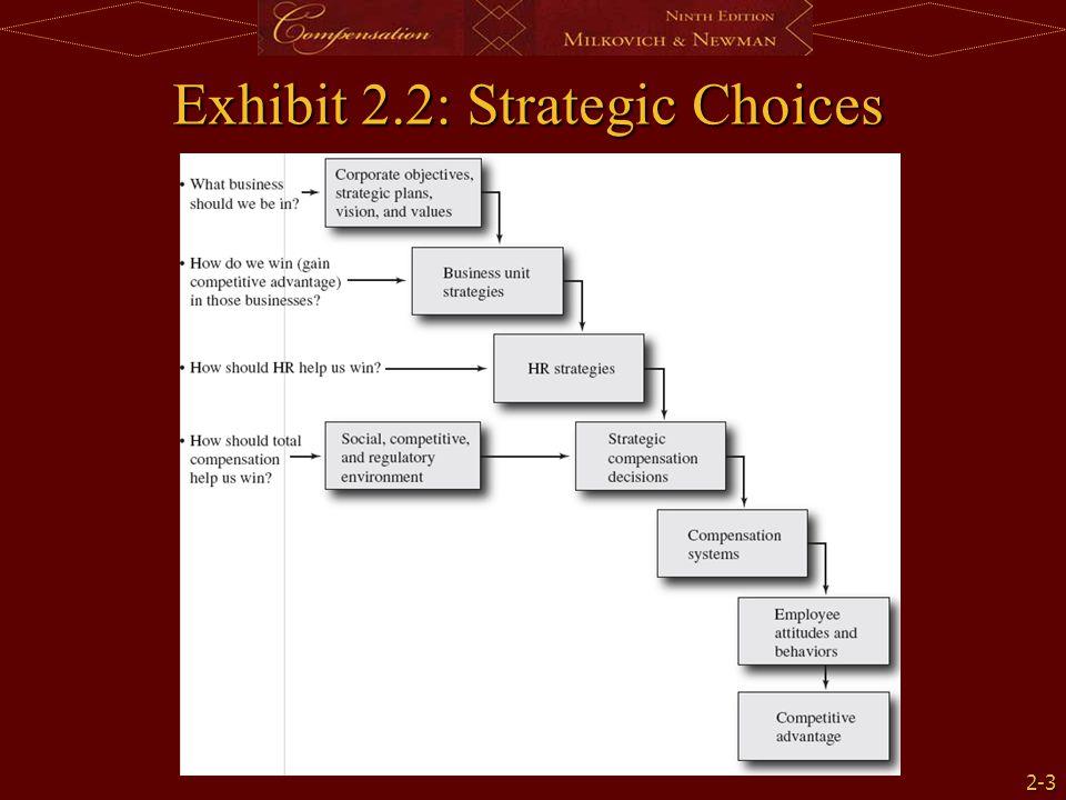 2-3 Exhibit 2.2: Strategic Choices