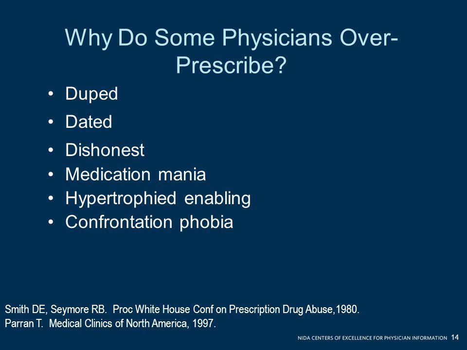 Why Do Some Physicians Over- Prescribe.