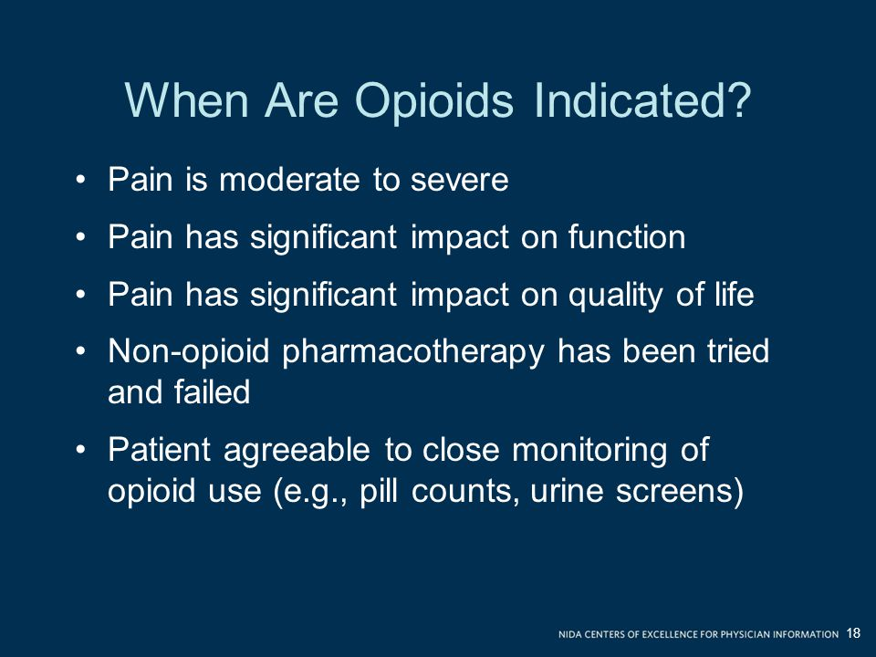 When Are Opioids Indicated.