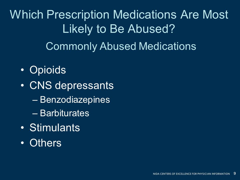 Which Prescription Medications Are Most Likely to Be Abused.