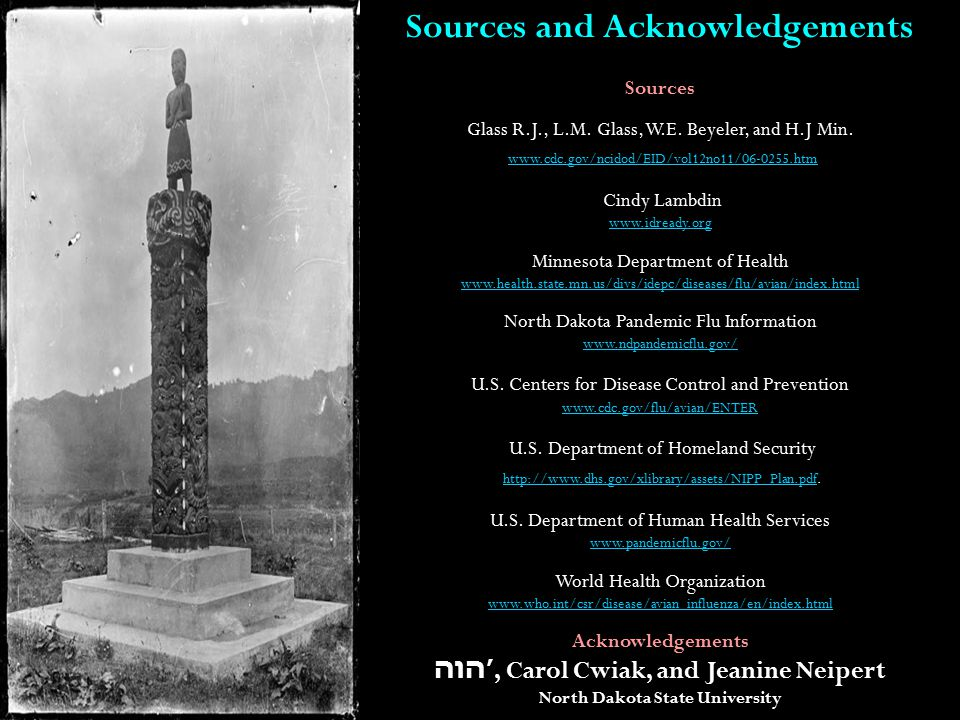 Sources and Acknowledgements Sources Glass R.J., L.M.