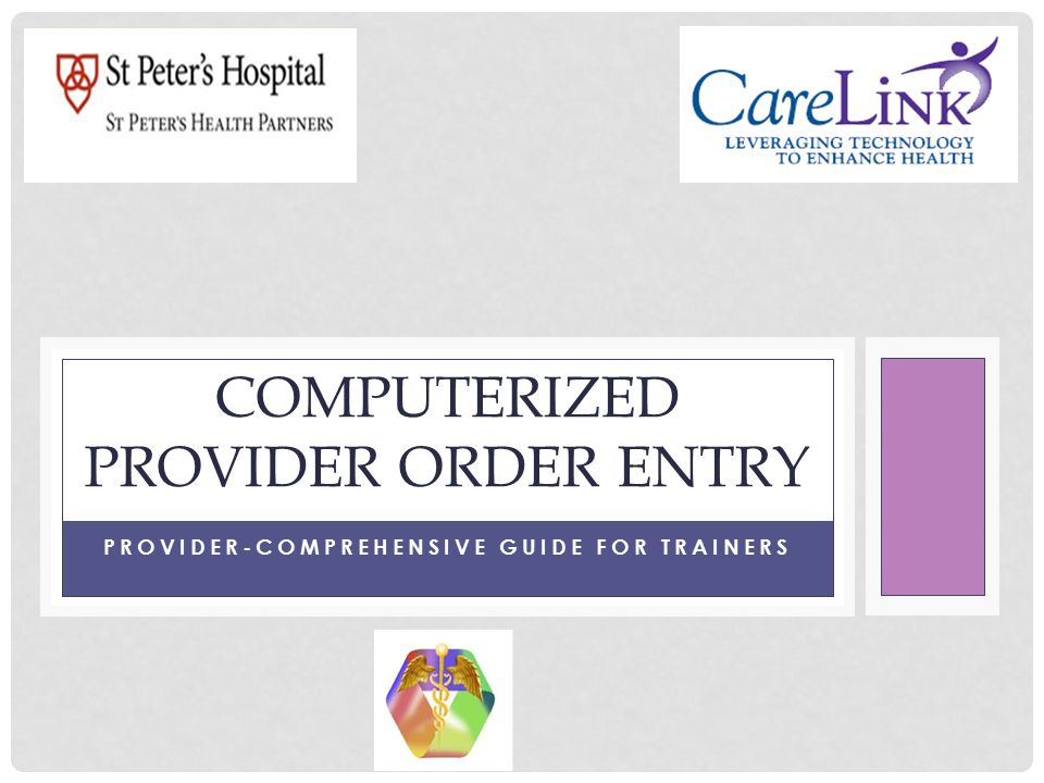 VERBAL ORDER EXPECTATIONS Are face to face when the provider is present These orders should be limited to times when: The provider and receiver of the order are in a procedure area or a critical care unit and the provider is engaged in a patient care activity s/he cannot stop to enter an order electronically or in writing The provider and receiver of the order are in an emergency situation Code Rapid response The licensed professional accepting verbal orders must write down the complete order, then read it back including the patient's name for verification from the physician/provider who gave the order In emergency situations where it may not be feasible to write the order and read it back, it is acceptable to repeat back the complete order for verification from the physician/provider The Provider/Attending Physician/Practice Group is responsible for countersigning, with date and time, the verbal order within 48 hours in the medical record