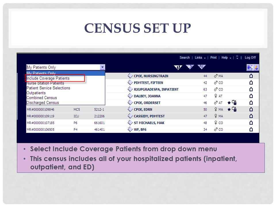 WORKLIST MANAGEMENT Your Worklist is populated from patients on your census The Worklist contains Alerts, Orders to be Signed, Orders Approaching Expiration, Consultations, and New Results associated with your patients The orders associated with these items can be easily managed from the Census page using your Worklist