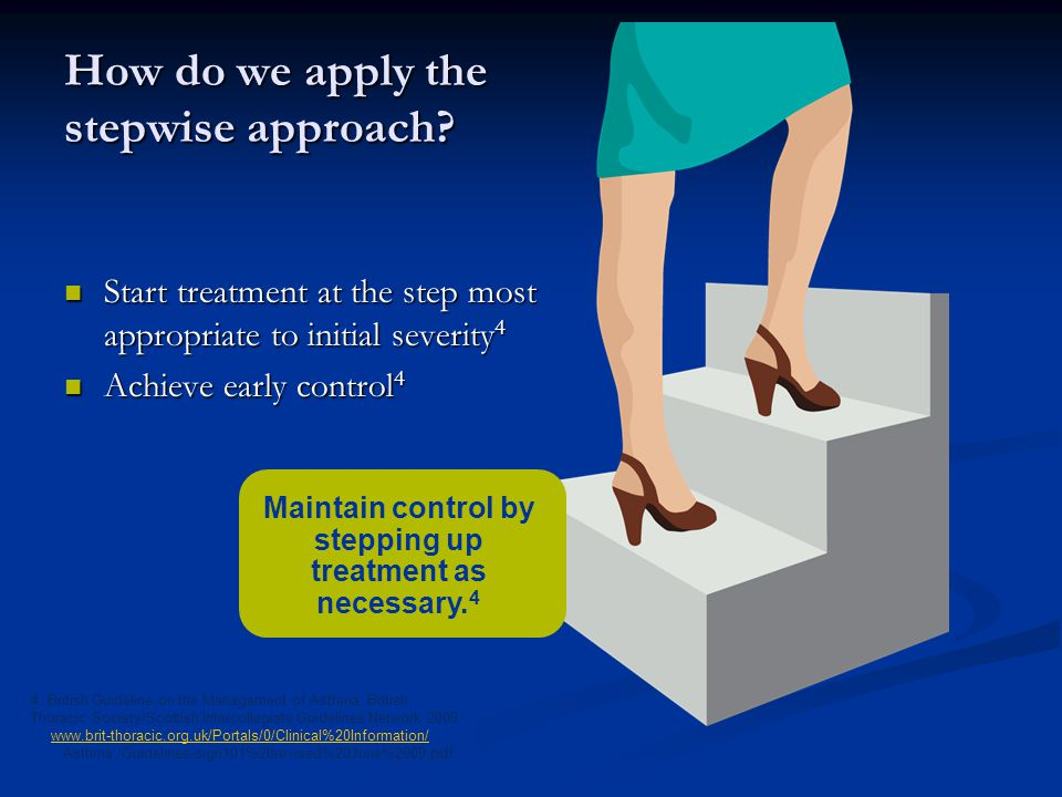 How do we apply the stepwise approach.