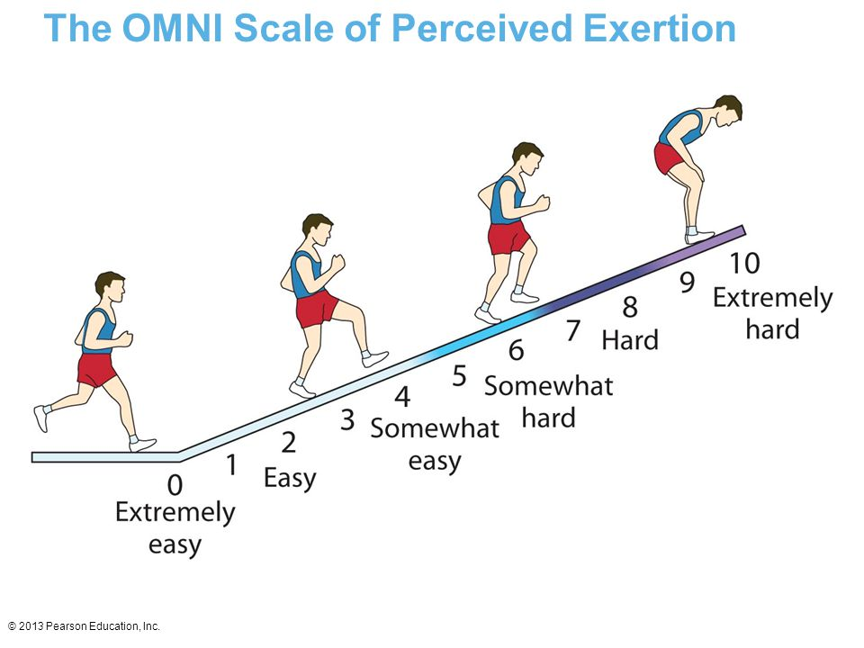 © 2013 Pearson Education, Inc. The OMNI Scale of Perceived Exertion