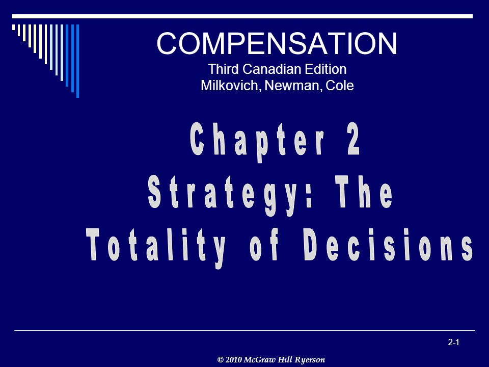 © 2010 McGraw Hill Ryerson 2-1 COMPENSATION Third Canadian Edition Milkovich, Newman, Cole