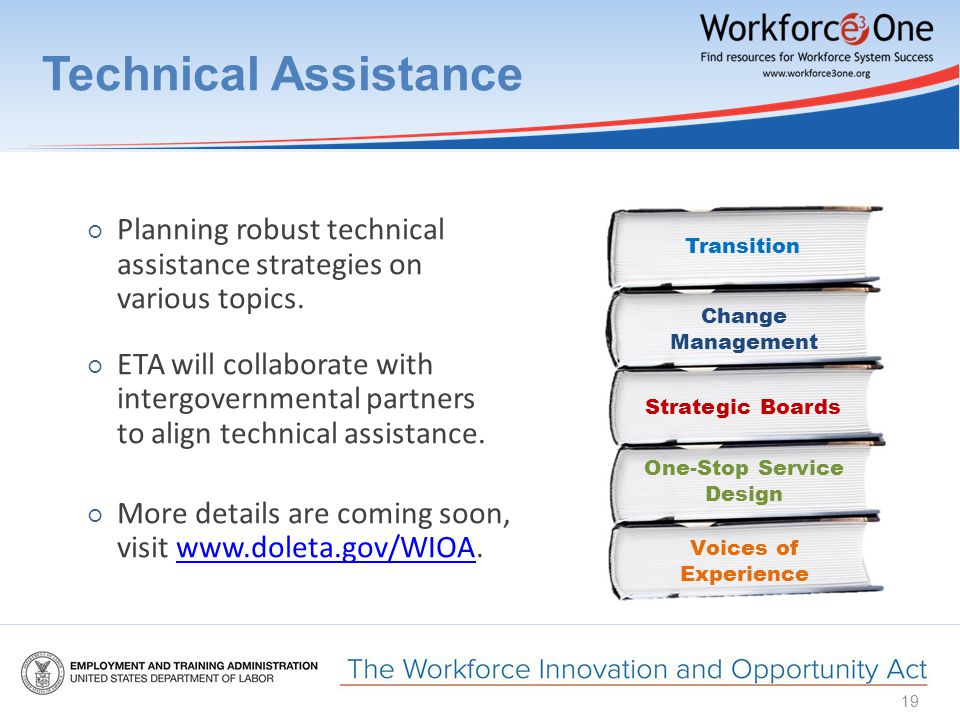 Technical Assistance ○ Planning robust technical assistance strategies on various topics.