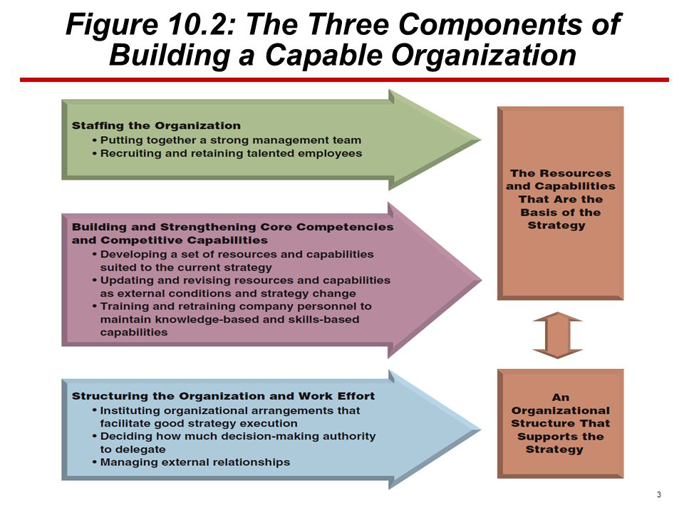 3 Figure 10.2: The Three Components of Building a Capable Organization