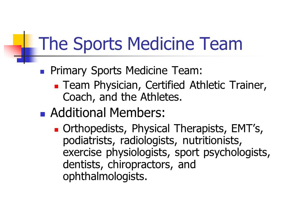 Sports Injury Management and the Athletic Trainer Chapter 1