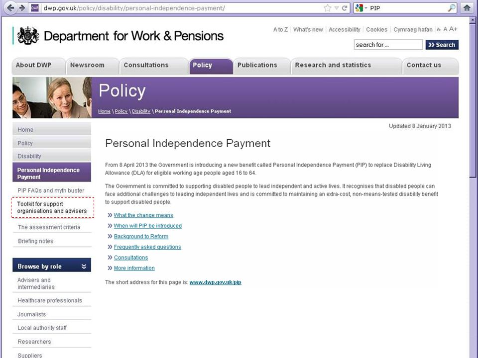 18 Department for Work & Pensions