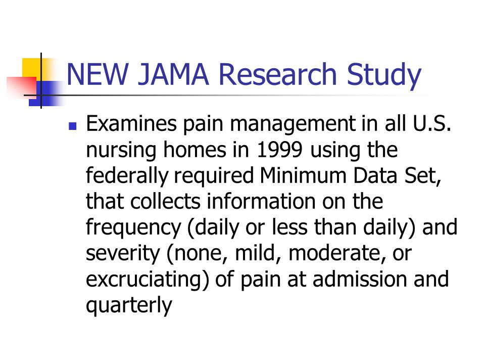 NEW JAMA Research Study Examines pain management in all U.S.