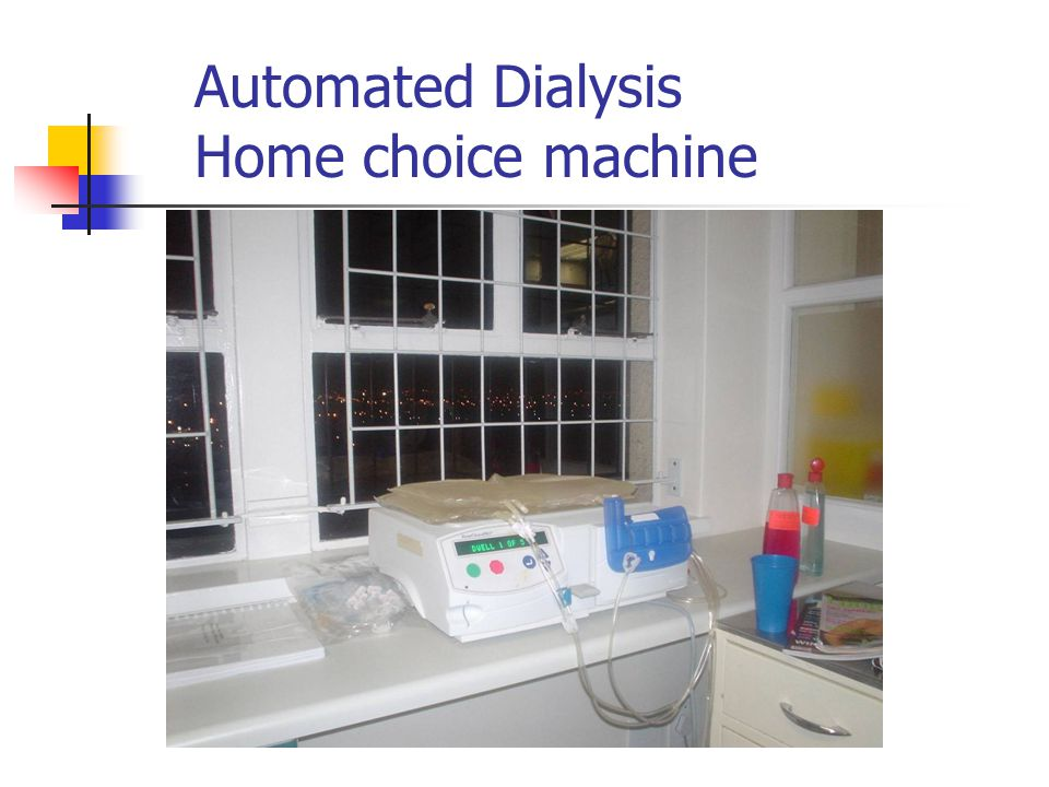 Automated Dialysis Home choice machine