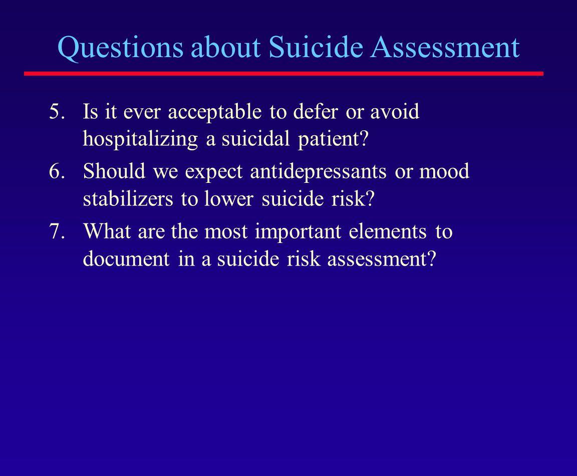 SUICIDE PREDICTION vs.