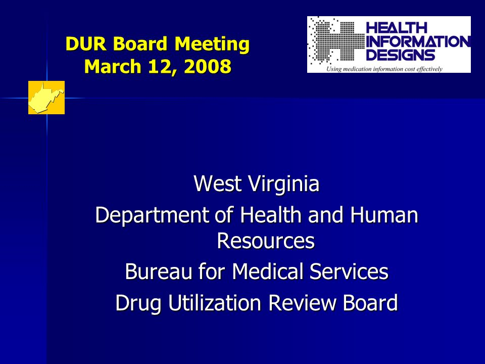 DUR Board Meeting March 12, 2008 DUR Interventions –Review of monthly DUR cycles, profile review by DUR Review Committee, includes review of Lock-In cases –Methadone – general warning intervention letter –Pain Management – long term use of short acting narcotics –Polypharmacy – 20 or more different drugs –Atypical antipsychotic utilization – review of criteria for duplicate therapy, impact on diabetes, unlabeled uses