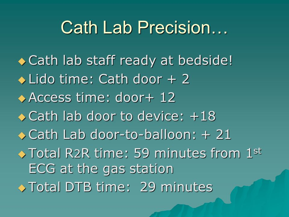 Cath Lab Precision…  Cath lab staff ready at bedside.