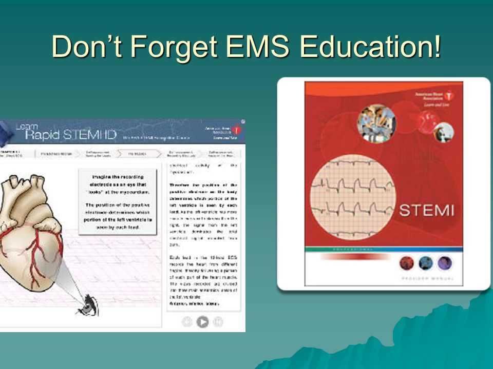 Don't Forget EMS Education!