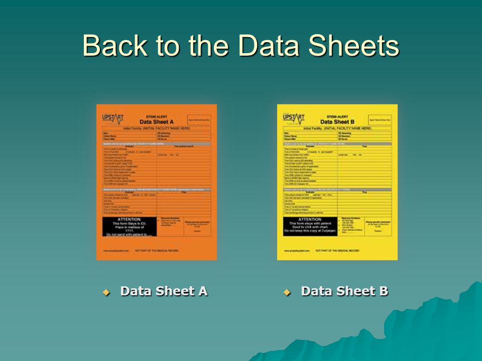 Back to the Data Sheets  Data Sheet A  Data Sheet B