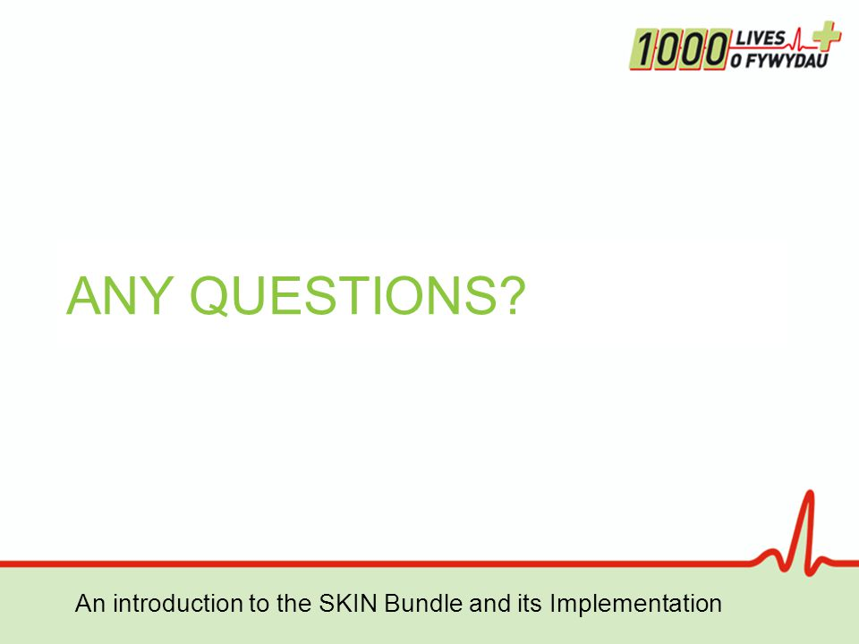 An introduction to the SKIN Bundle and its Implementation ANY QUESTIONS?