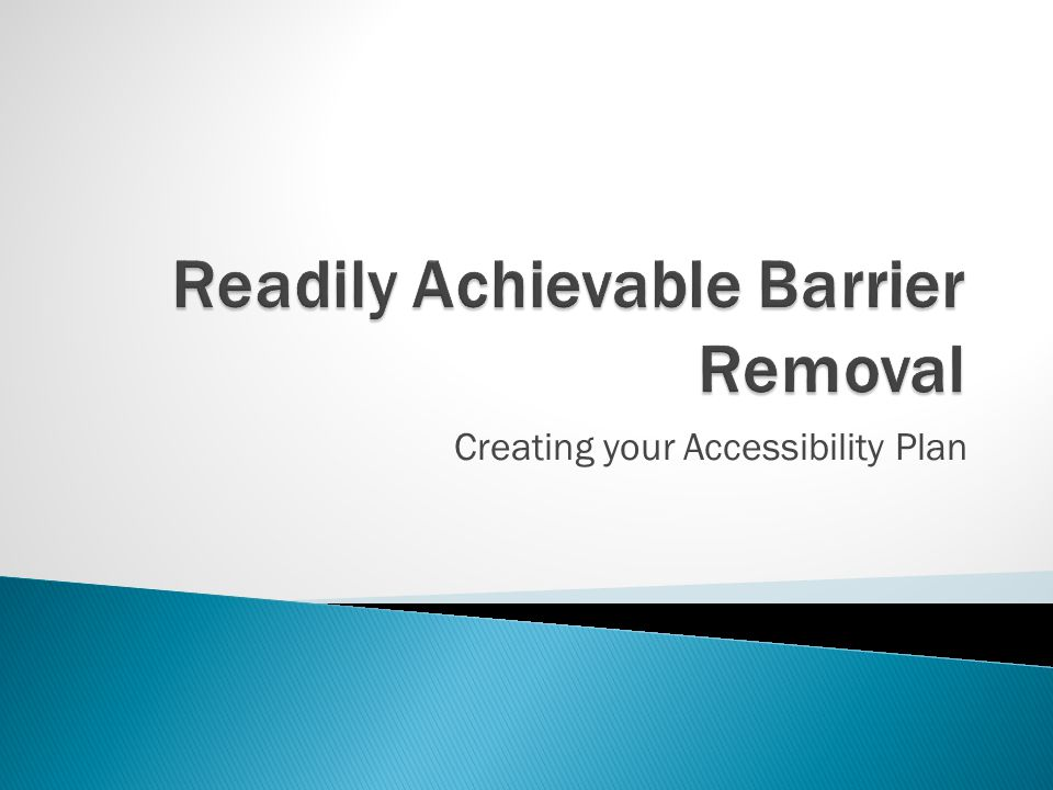 Creating your Accessibility Plan