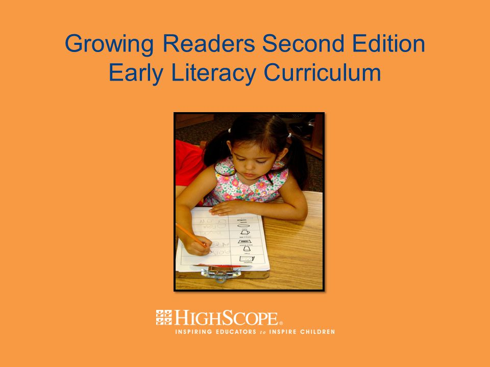 Growing Readers Second Edition Early Literacy Curriculum Second Edition