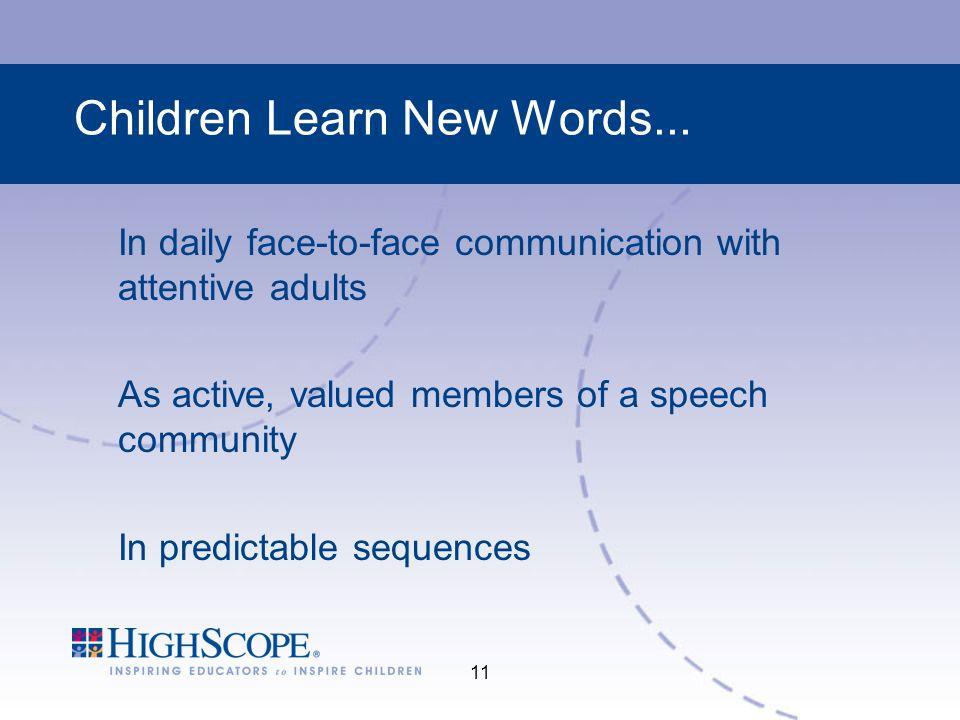 11 Children Learn New Words...
