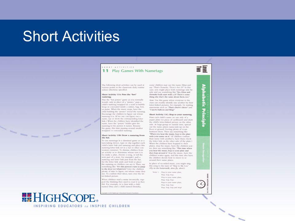 Short Activities