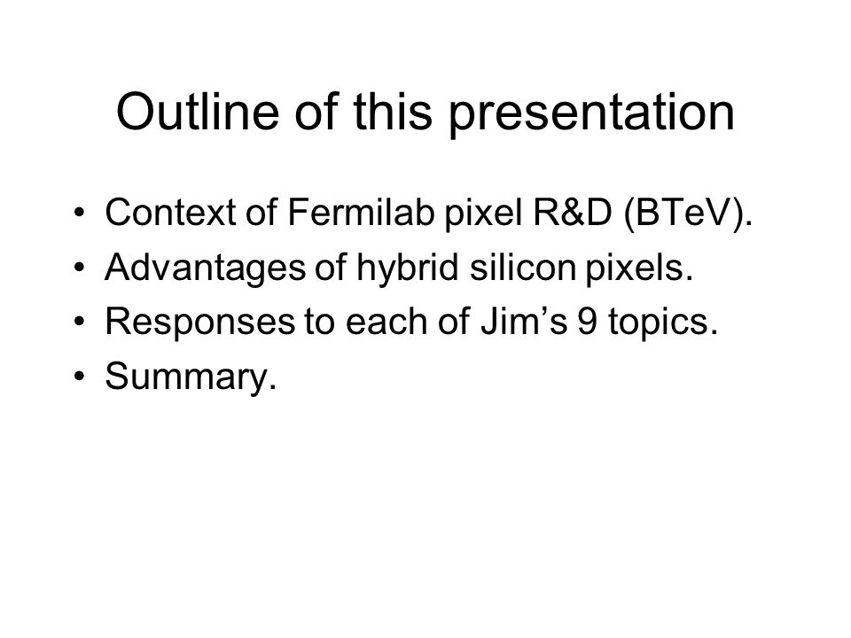 Topics 2/3: This Proposal 1.Finish modifications to the FPIX2 readout chip.