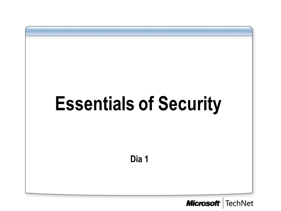 Essentials of Security Dia 1