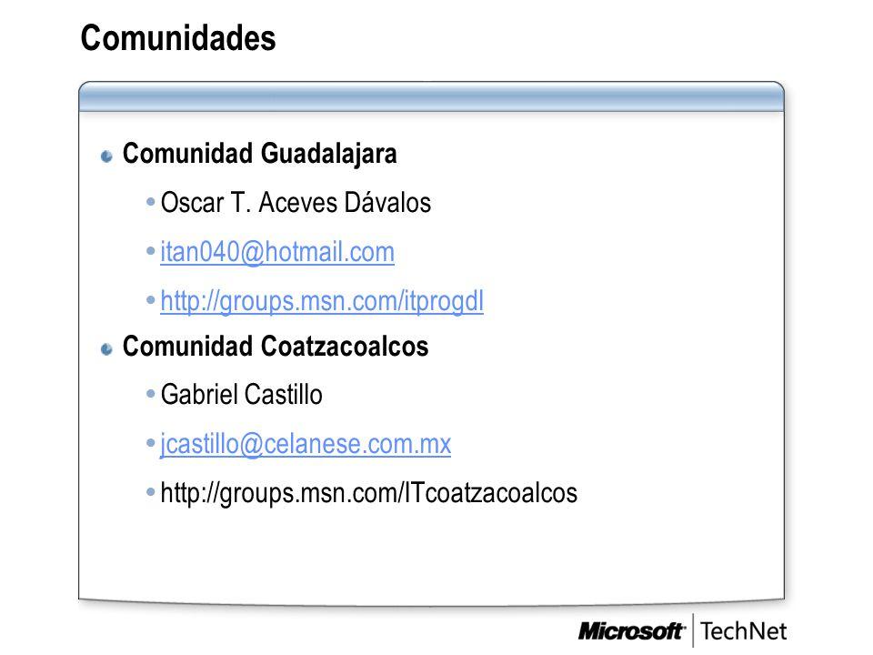 Comunidades Comunidad Guadalajara  Oscar T.