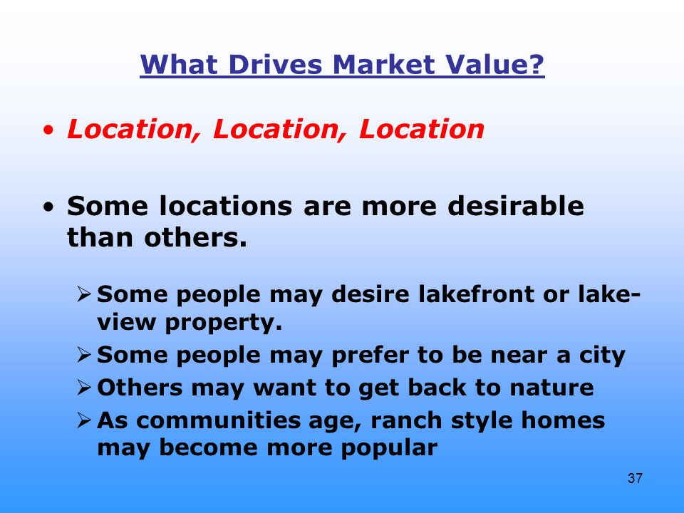 37 What Drives Market Value.