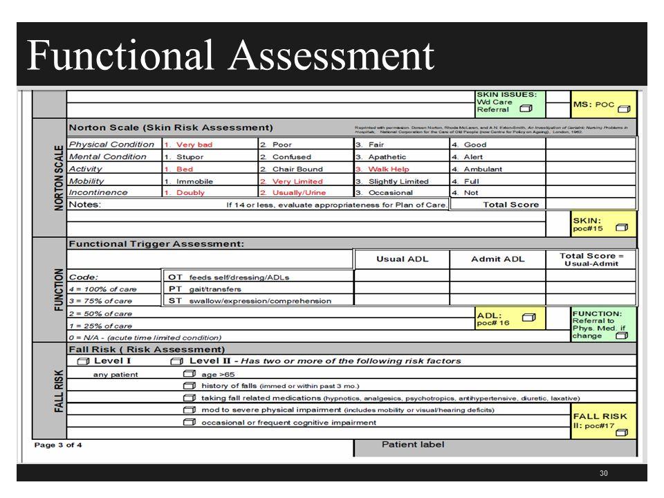 Functional Assessment 30