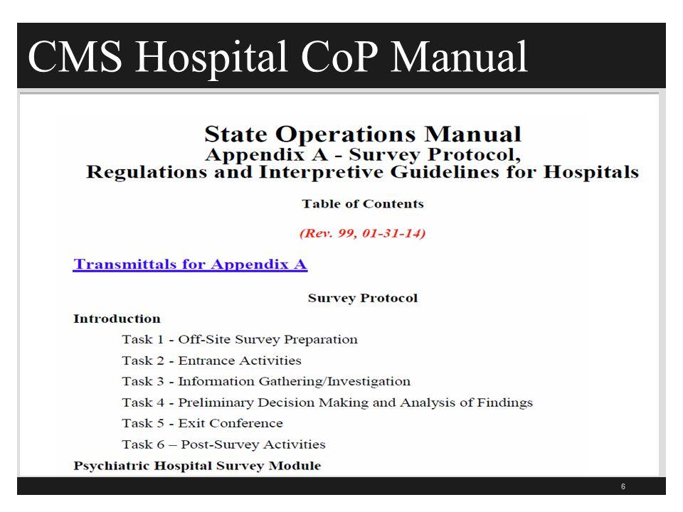 CMS Hospital CoP Manual 6