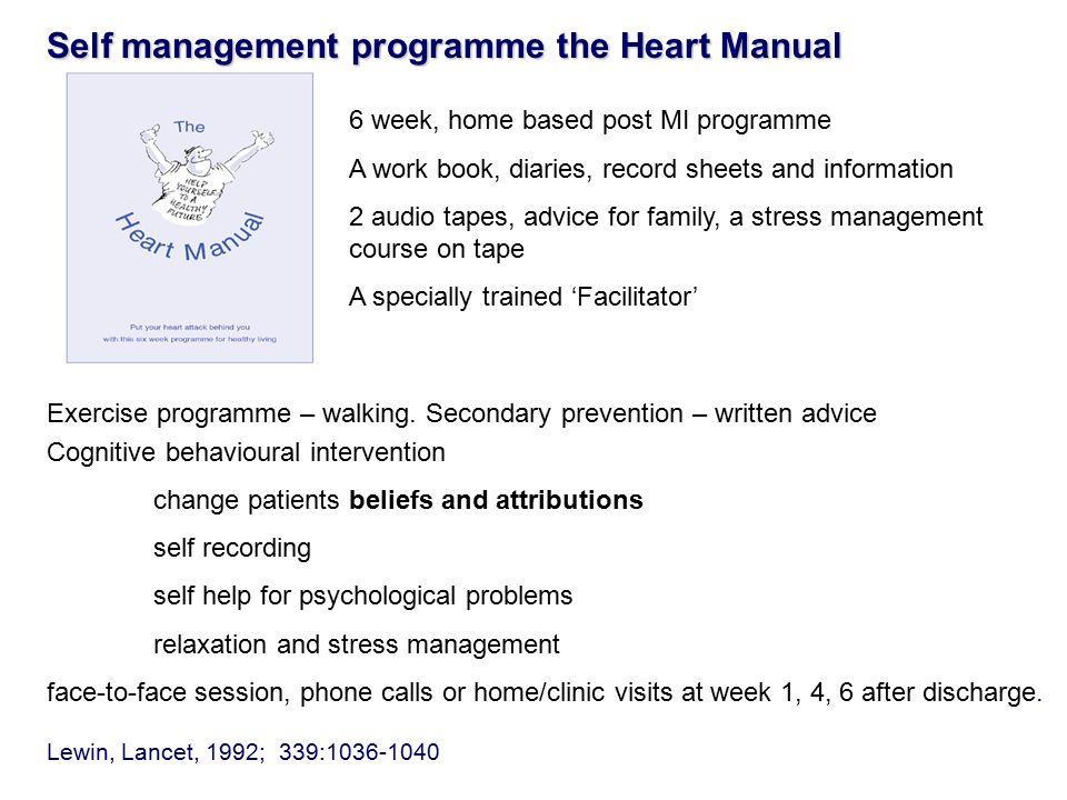 The original CDM for CHD Cardiac rehabilitation 36 randomised trials meta-analysis shows a 20% all cause and 26% reduction in cardiac mortality at 2-5 years.