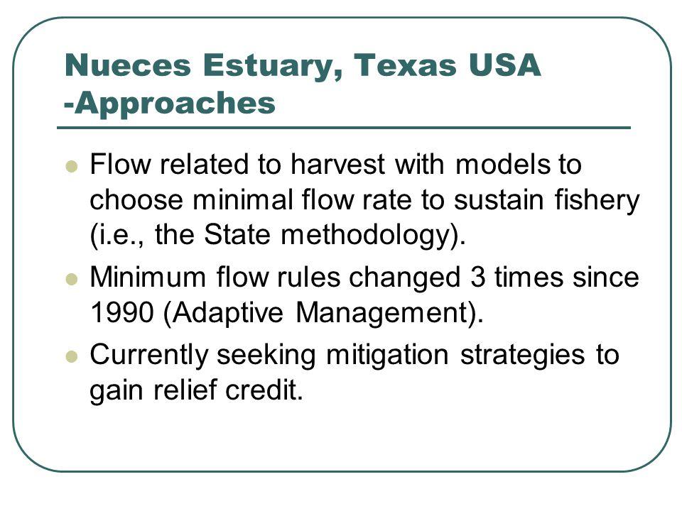 Generic Methodology -Adaptive Management Monitor appropriate ecosystem indicators.