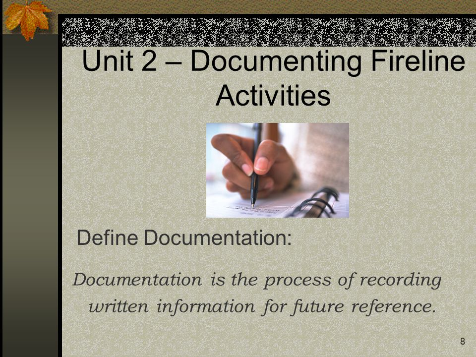 19 Unit 3 – Communications Passing Information: Pass on all information you know as fact to all assigned personnel.