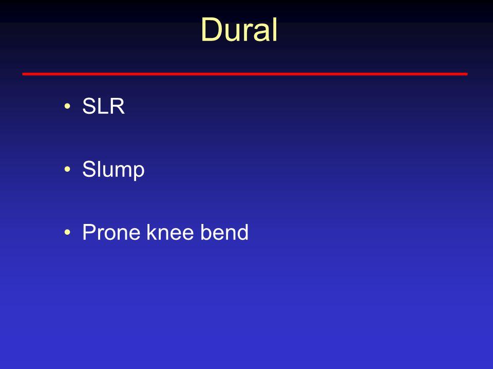 Dural SLR Slump Prone knee bend