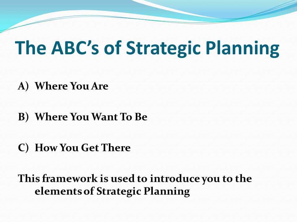 Ten Steps to Complete the Plan 1.Initiate and Agree on a Strategic Planning Process 2.