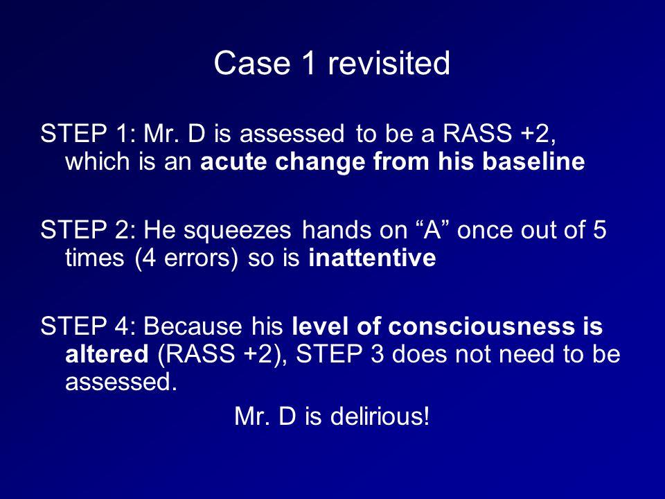 Case 1 revisited STEP 1: Mr.