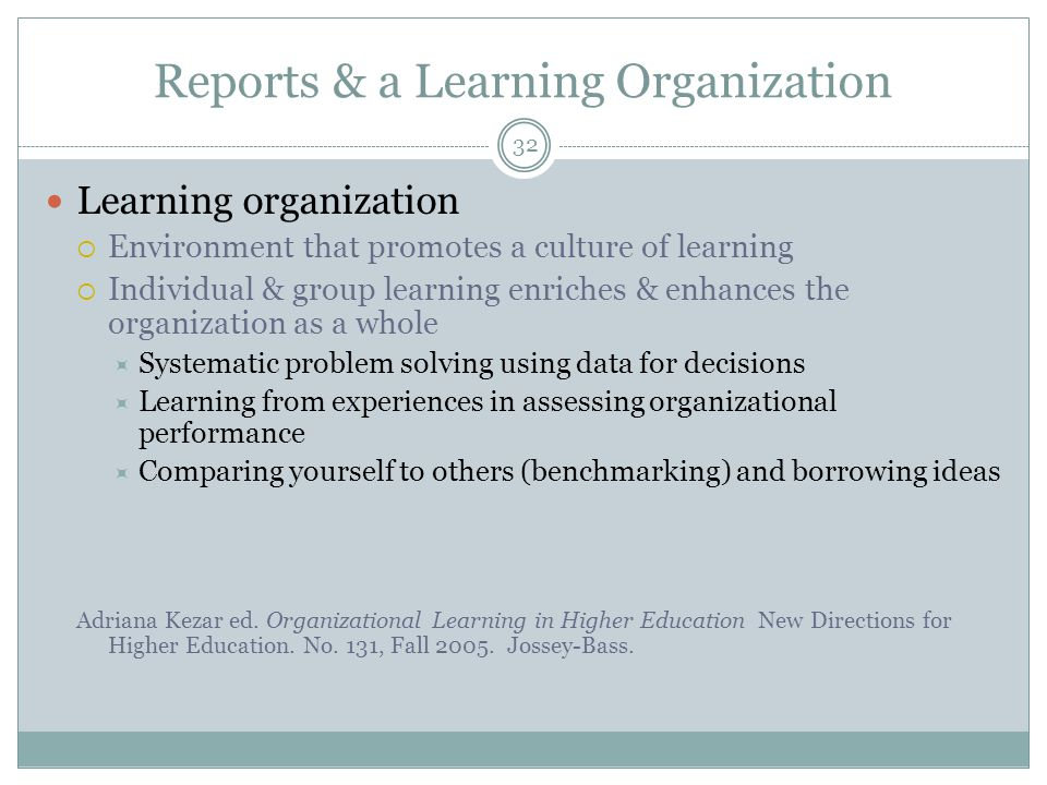 33 Reports as Institutional Learning & Resource Allocation The assessment data sense-making process = a faculty learning experience Linking results to future interventions = a learning experience Using results to inform an intervention, then reassess = a learning experience (accomplished one or more terms later) Reference for future assessment work and other groups on campus