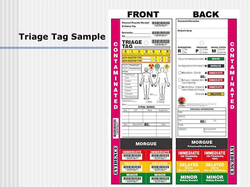 Triage Tag Sample